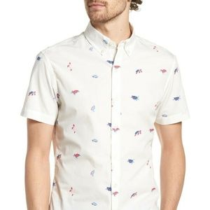 "BONOBOS Riviera Slim Fit Turtle ""HAWAIIAN"" Shirt M"